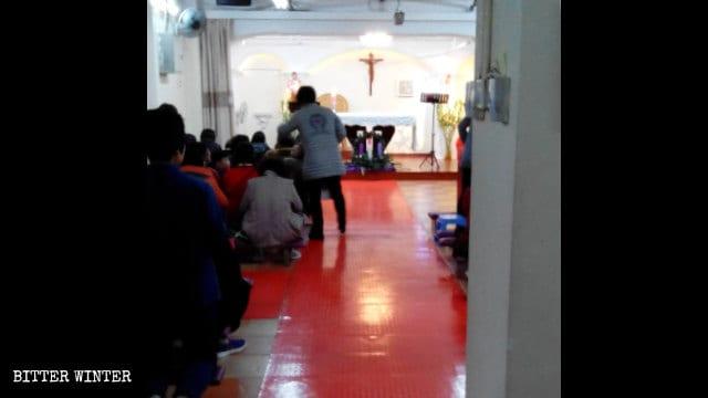 Le lieu de congrégation de Shijijiayuan avant la fermeture.