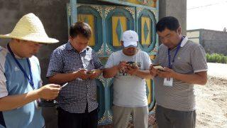 Les gens utilisent l'application « Visite dans le Xinjiang »