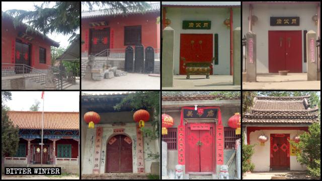 Dix-huit temples du bourg de Guangwu ont été fermés à la mi-mai.