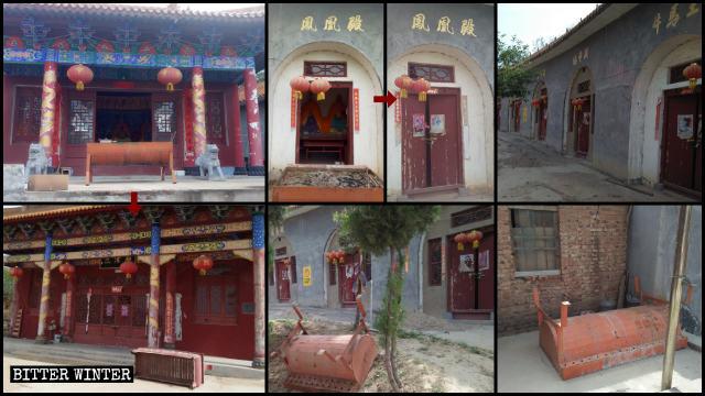 Le Grand temple de Fenghuangding a été fermé le 13 mai.