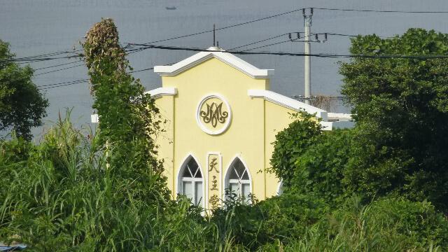 Une église catholique sur la route côtière près de la péninsule de Damen Shan (大门山), dans la ville de Chixi, située dans le comté de Cangnan au Zhejiang.