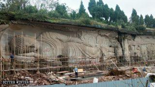 Sichuan : disparition des statues bouddhistes et taoïstes d'une zone panoramique